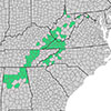 map detail from Who Owns Appalachia project