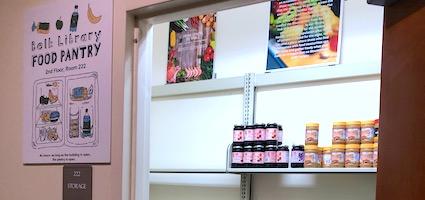 food pantry door