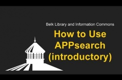 Watch How to Use APPsearch  on YouTube