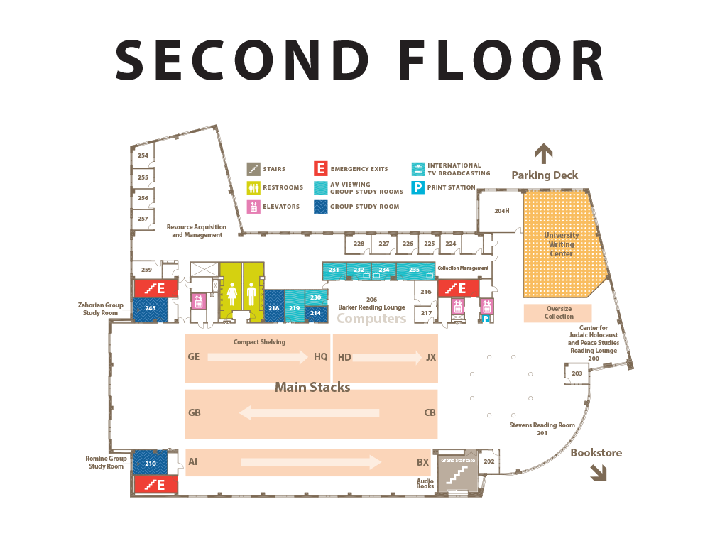 Second floor floor plan