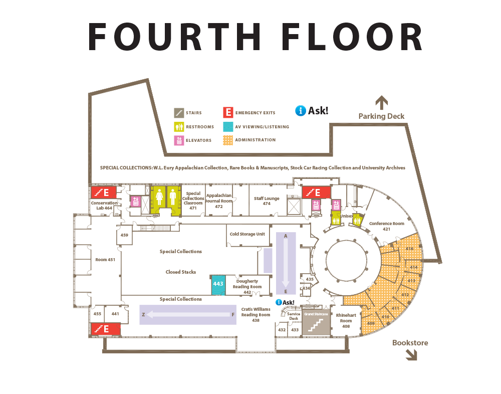 Fourth floor floor plan