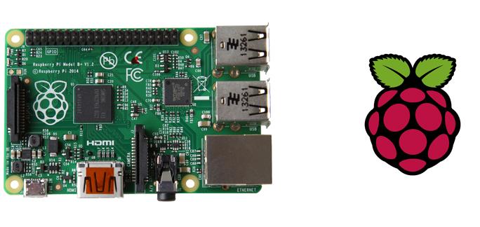 Raspberry Pi board and icon